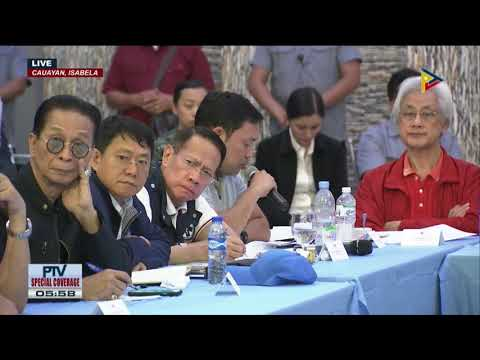 PRRD presides over a situation briefing regarding Typhoon Rosita