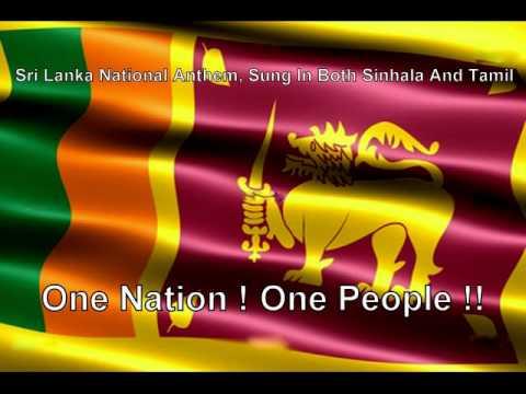 sri lanka national anthem sinhala tamil youtube