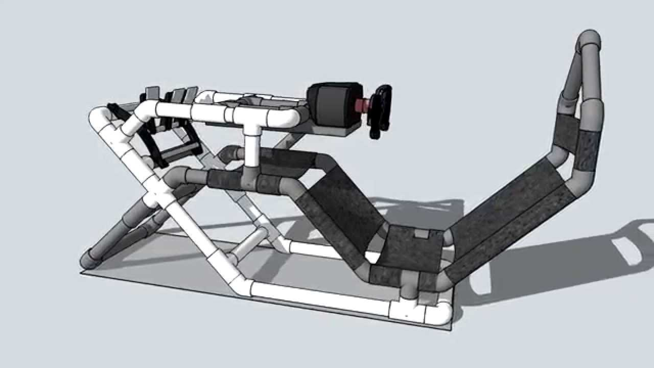 racing simulator chair plans little tikes and table pvc cockpit (30) f1style - youtube
