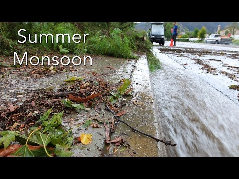 Summer Monsoon Hits Horsethief Canyon in Temescal Valley, CA