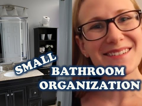 Small Bathroom Organization Tips Budget Youtube