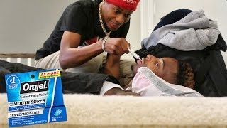 ORAJEL NUMBING MOUTH PRANK ON FUNNYMIKE!!!