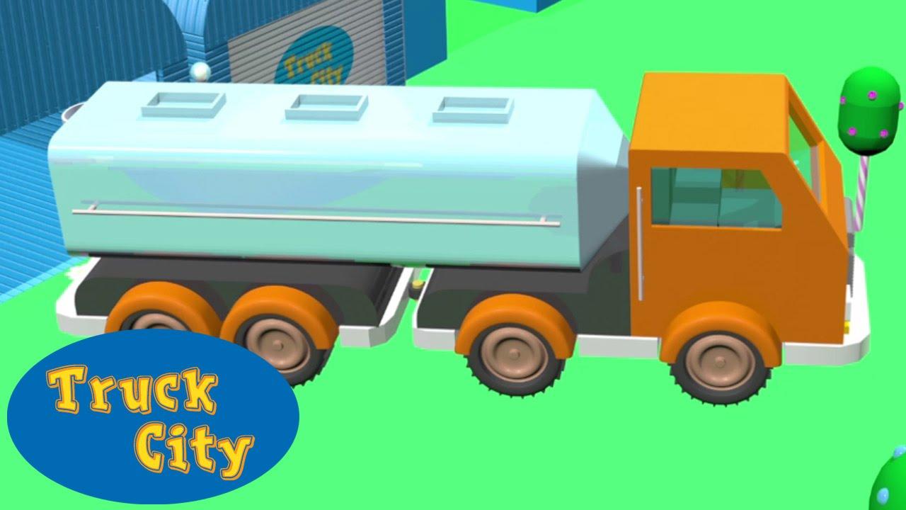 Camion Citerne Construction Piscine Toboggan G Ant