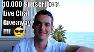 🔴 10,000 Subscriber Live Chat + Giveaway from Hawaii 🌴