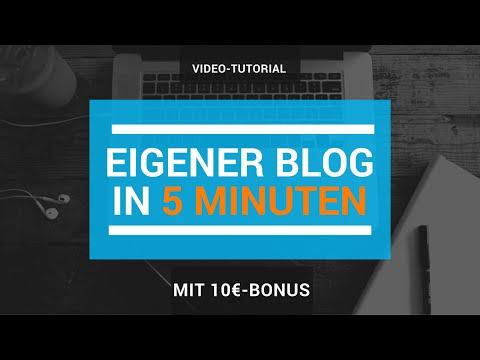 Eigenen Blog erstellen – Wie du in 5 Minuten zum Blogger wirst! [Tutorial]