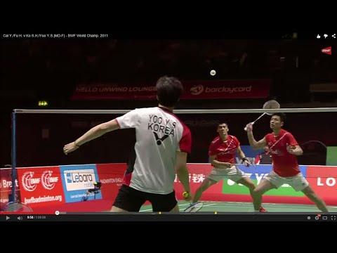 Cai Y./Fu H. v Ko S.H./Yoo Y.S.|MD-F| Yonex BWF World Champ. 2011