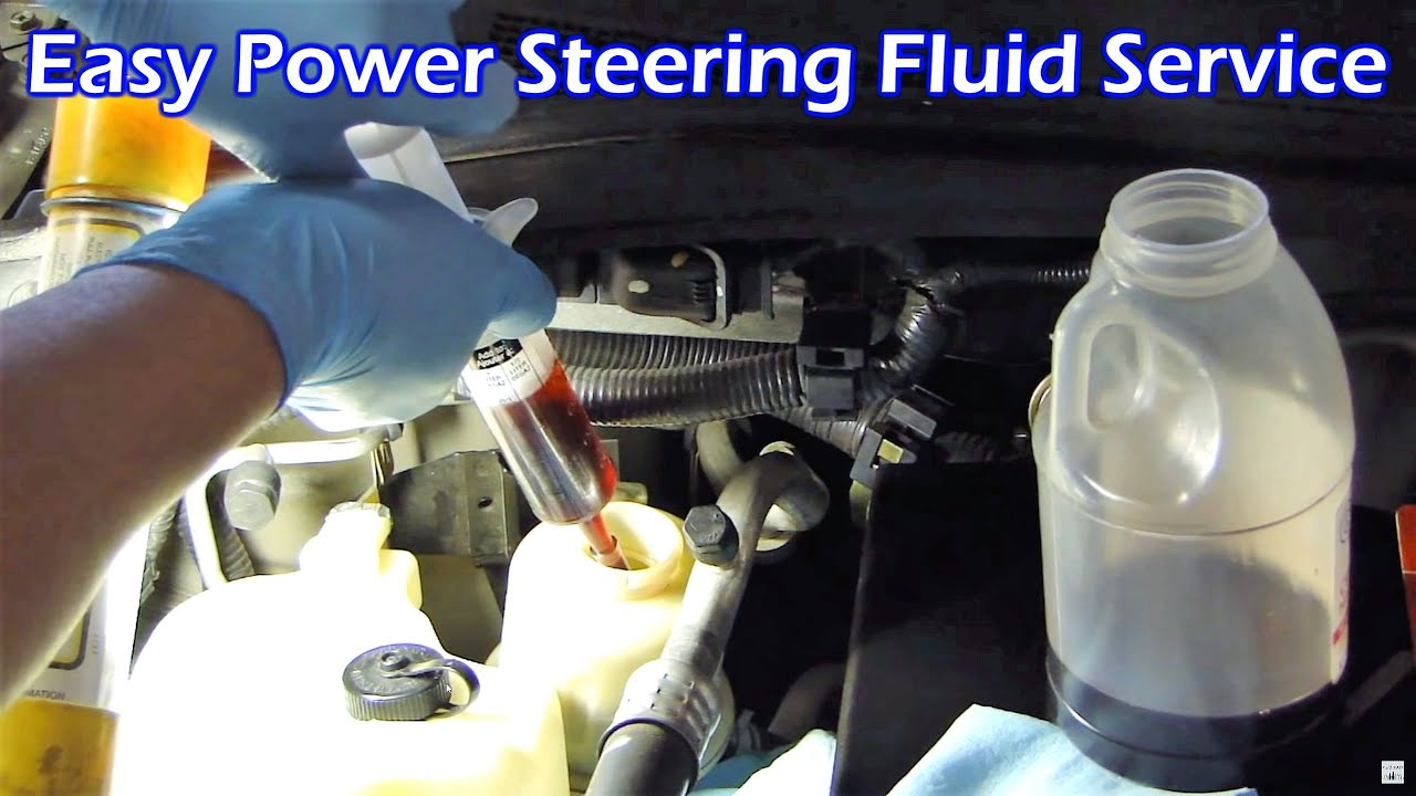 Power Steering Fluid Service Nissan Quest Youtube