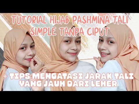 Cara Memakai Jilbab Pashmina Tutorial Hijab Pashmina Tali Kekinian Youtube
