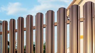 Заборы металлический штакетник(, 2016-12-15T22:17:05.000Z)