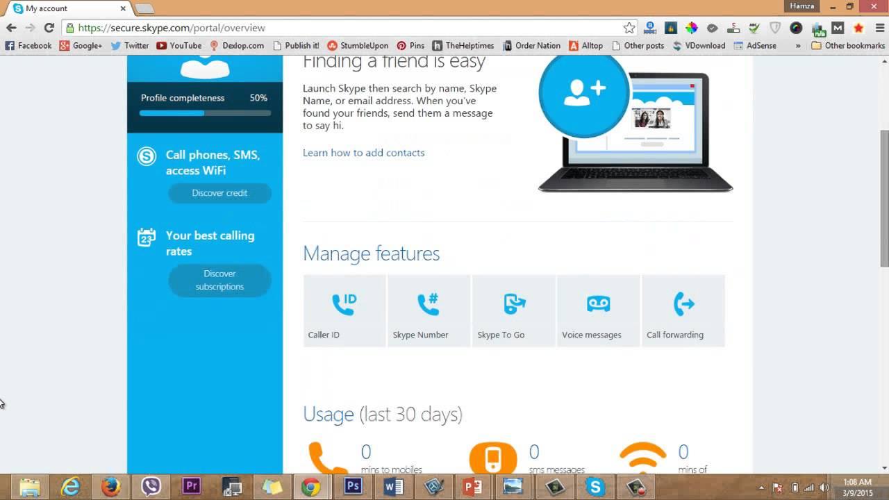 how to skype id create