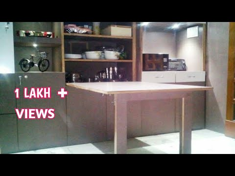 Wall mounted and portable Dining table YouTube