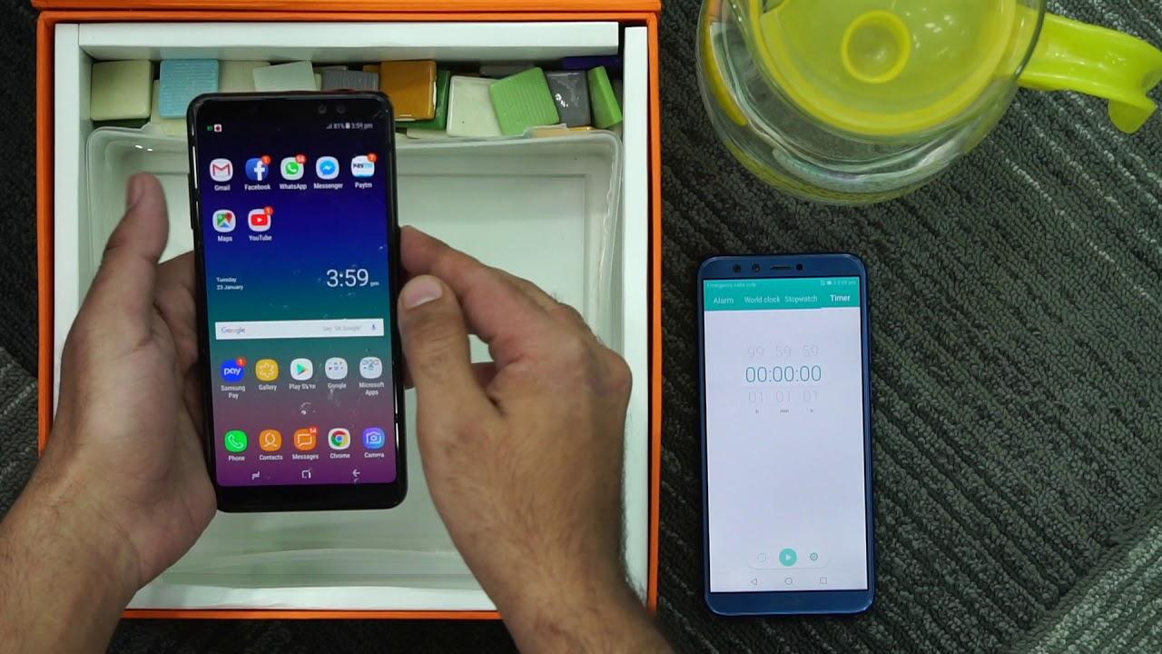 hot sales 12b57 23638 Samsung Galaxy A8+: Water test [Hindi-हिन्दी]