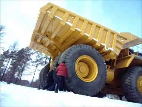 БелАЗ 75710. 450 тонн тест драйв от Лукашенко - YouTube