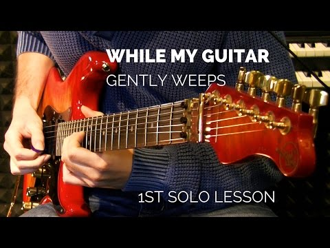 while my guitar gently weeps guitar solo pdf