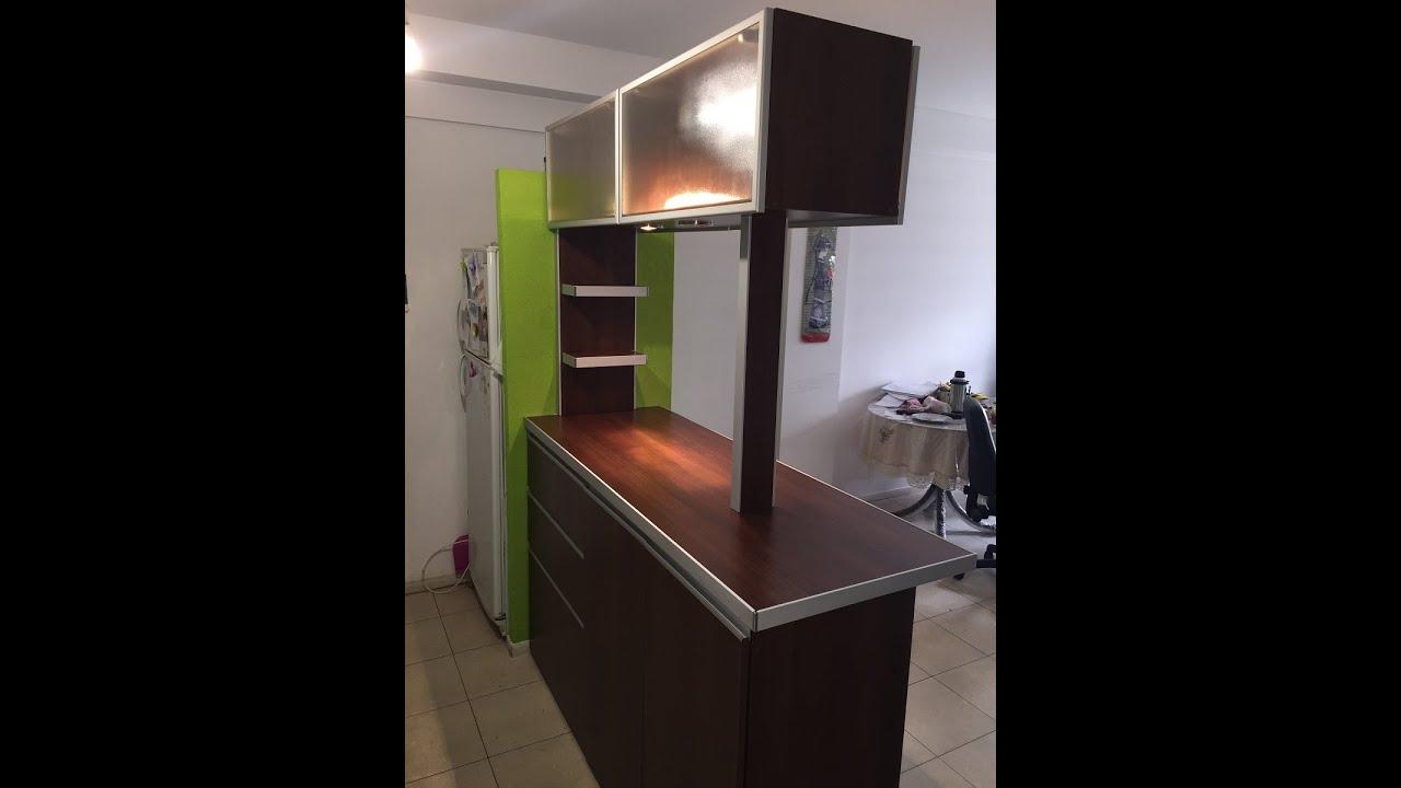Fabrica de desayunadores barras alacenas vidriadas en for Muebles de cocina moviles