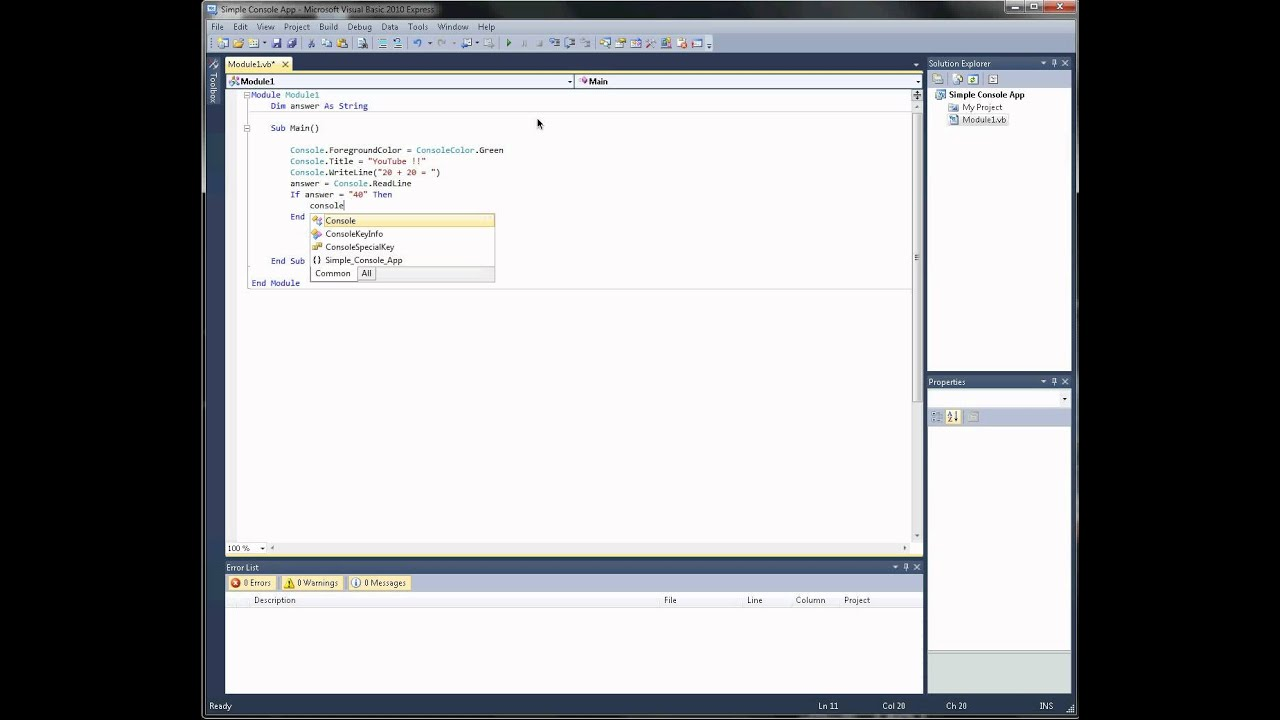 how to make a simple application visual basic
