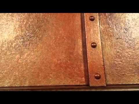 Faux copper range hood youtube for How to sponge paint a wall without glaze