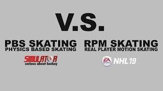 2KHS skating v.s. NHL 19 skating trailer