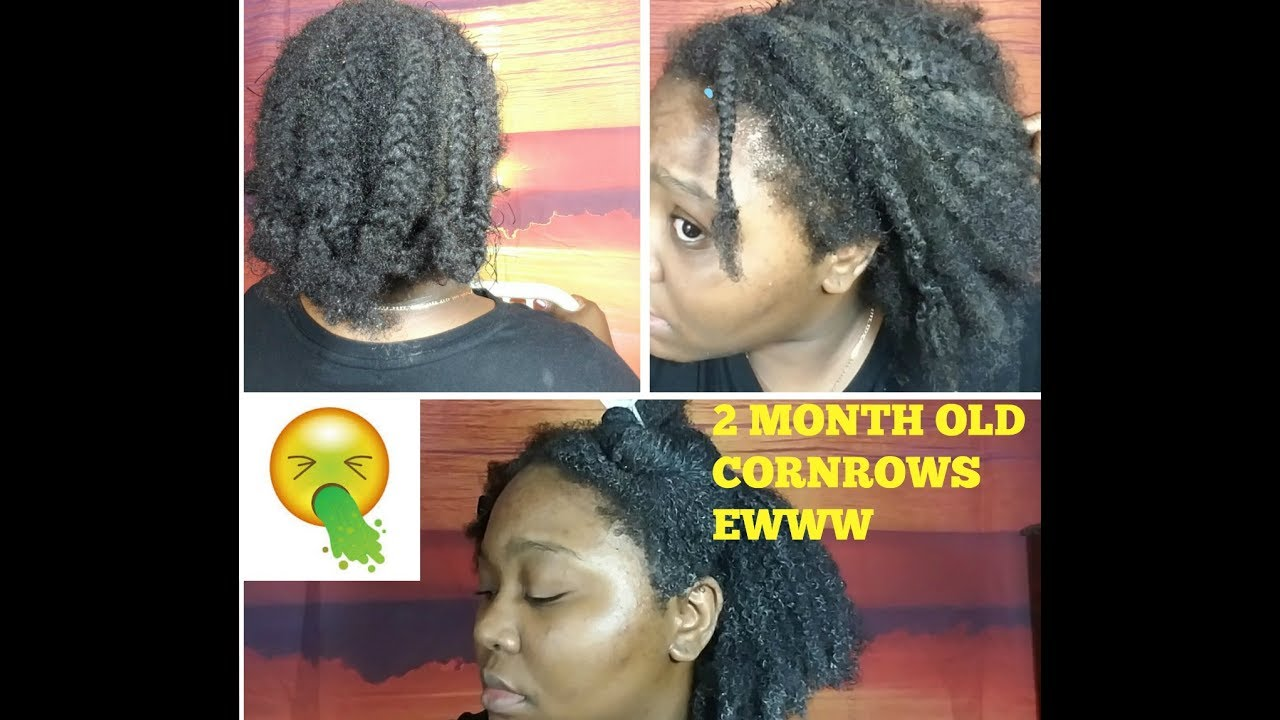 Taking Out My 2 Month Old Braids 4c Natural Hair Detangle Wash