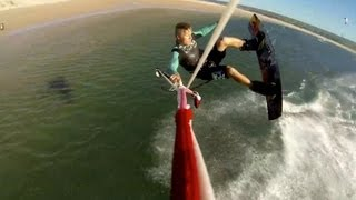 Kiteboarding in Cape Town from a GoPro POV