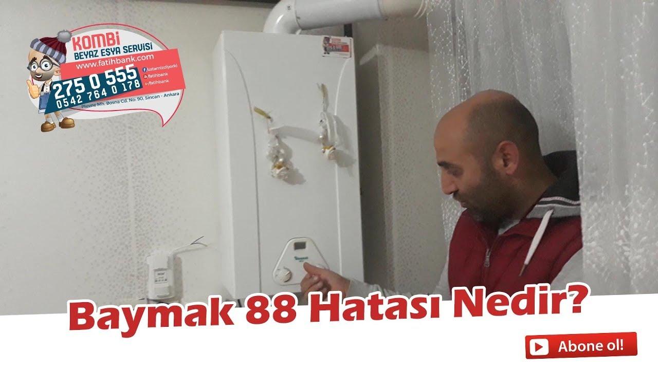 Baymak BH13 Hermetik Şofben 88 Arızası Nedir? 88 Arızası Nedir?