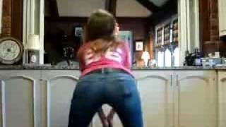 Skinny teen doing the booty shake Hot ass in jeans