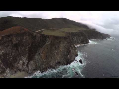 Bixby Bridge Aerial 1080p HD, Big Sur California, Phantom 2