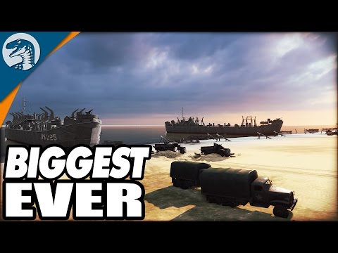 INSANE 10v10 PLAYER BATTLE, BIGGEST EVER, D-DAY LANDINGS | Steel Division: Normandy 44 Gameplay