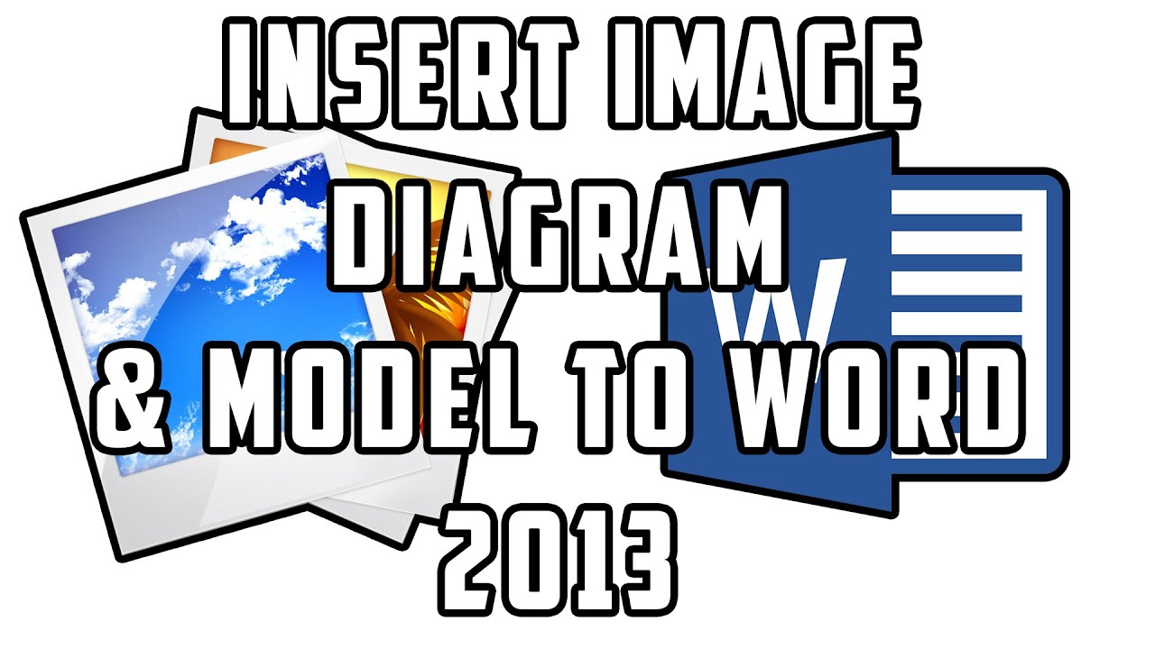 how to insert an image  diagram or model to microsoft word