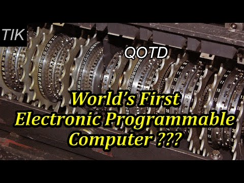 The World's First Electronic Programmable Computer??? QUESTION OF THE DAY #26 History Quiz