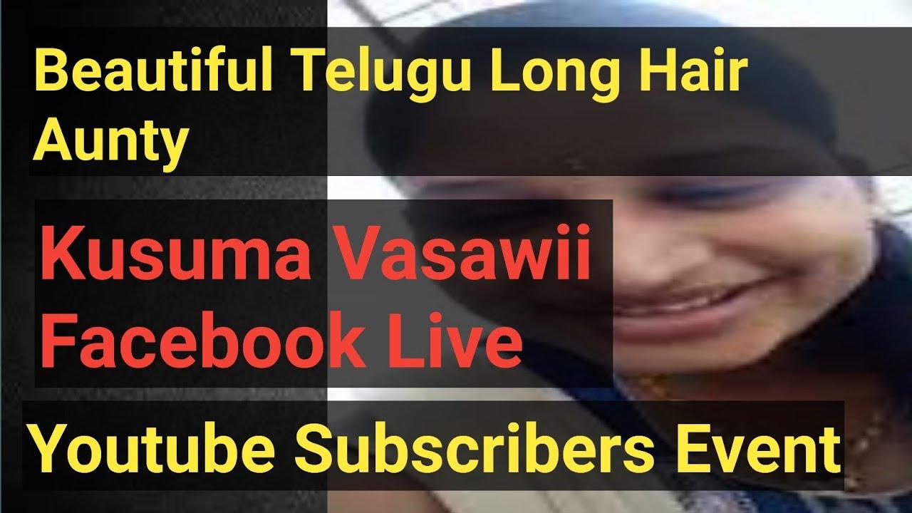 Kusuma Vasavi Telugu Vlogs - Beautiful Telugu Long Hair Girl facebook live subscribers party