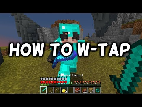 How To W-Tap In Minecraft (Beginner PVP Guide)