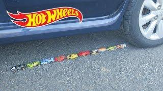 EXPERIMENT: CAR VS HOT WHEELS TOY CARS