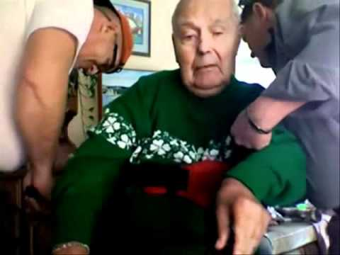 Lifting an Elderly Patient with Ergotrans Harness - YouTube