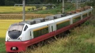 (HD) 特急つがる号 JR東日本 交流特急形電車 E751系 (Limited express)