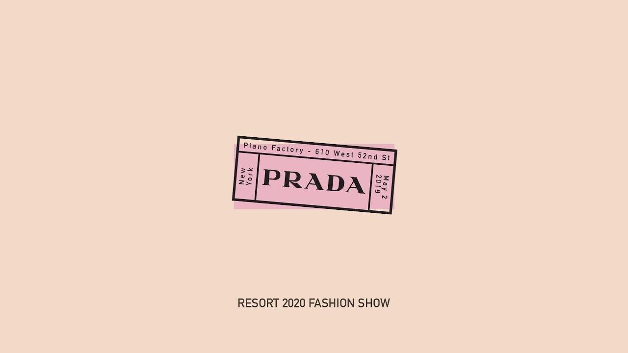 ffa7bd01 Prada Resort 2020 Fashion Show - Seditious Simplicity - YouTube