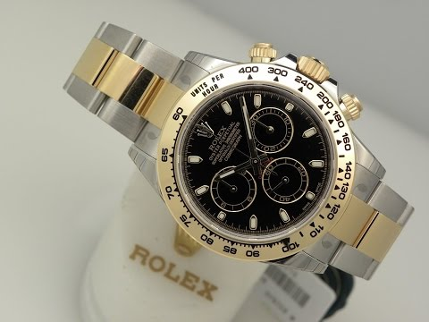 The beauty of Rolex Daytona 116503 black Dial two tone 40 mm steel and yellow gold luxury watch