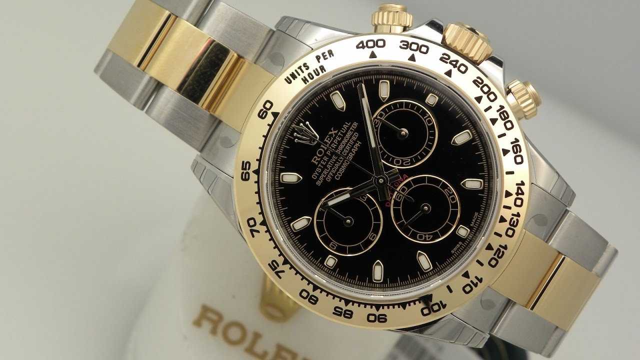 the beauty of rolex daytona 116503 black dial two tone 40