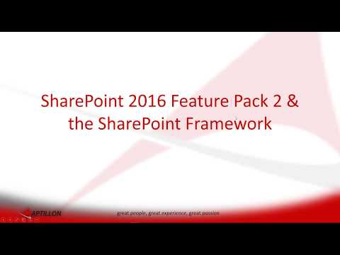 SharePoint 2016 Feature Pack 2 Brings the SharePoint Framework to On-Premises