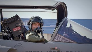 homepage tile video photo for Saab test pilot on conducting the first Gripen flight in Brazil
