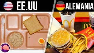 Así es la comida de las prisiones en distintos países...