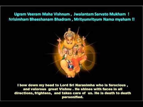 Ugram Veeram Maha Vishnunam - Sri Lakshmi Narasimha Maha Mantram