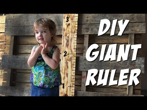 DIY GIANT RULER - How to Build a Child Growth Chart