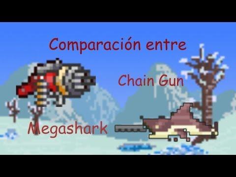 Comparación: Megashark vs Chain Gun - Terraria 1.2.2