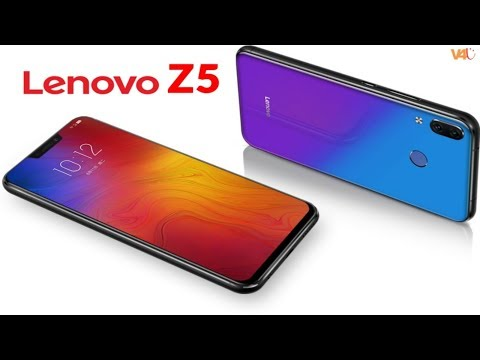 Lenovo Z5 Official Inro, First Look, Price, Release Date, Features - Finally Unveiled