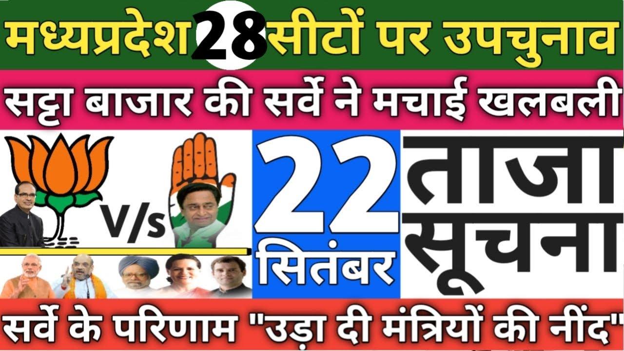 Madhya Pradesh Election- 28 Assembly Seats Satta Bazar Survey & Opinion Polls? Congress BJP Shivraj