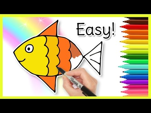 How To Draw A FISH! Easy Drawings For Kids