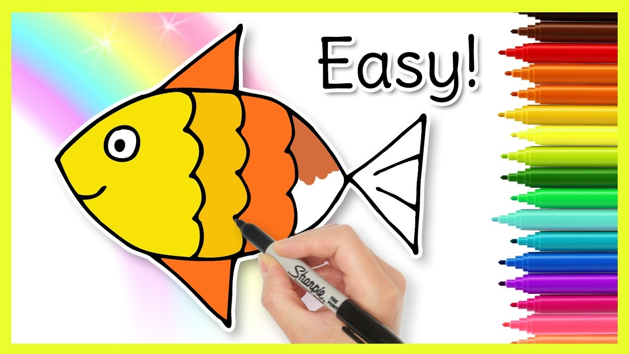 How To Draw A Fish Easy Drawings For Kids