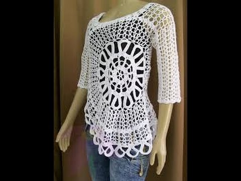Very Easy Crochet Blusa - YouTube 1af336013400a