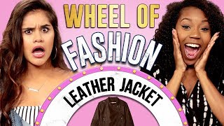 LEATHER JACKET CHALLENGE?! Wheel of Fashion w/ Arianna Jonae & Erika Vianey